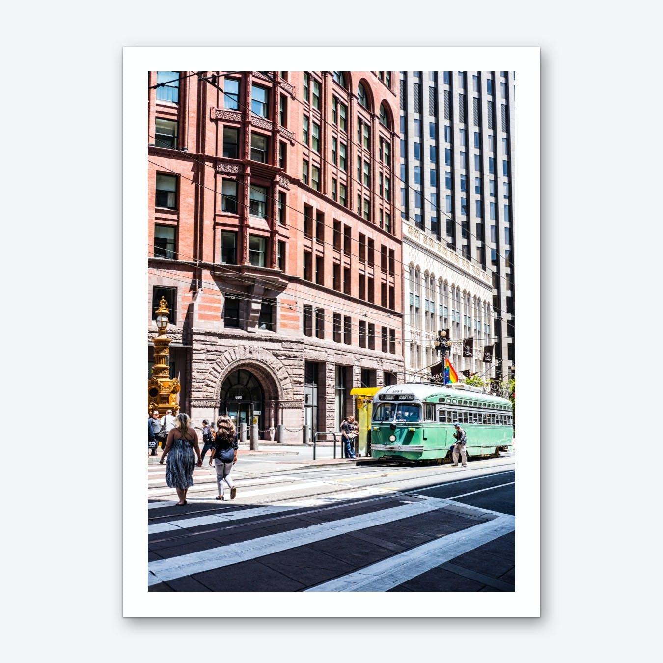 Green Trolley Art Print