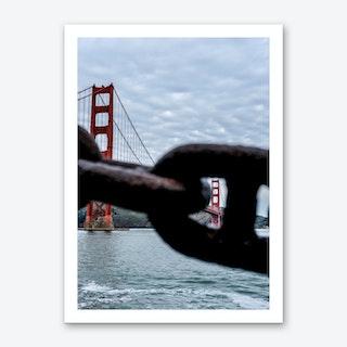 Peeking Golden Gate Bridge Art Print