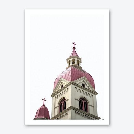 Pink Church Art Print