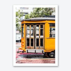 Yellow Trolley Art Print