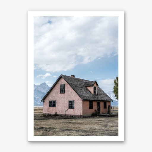 The Pink Barn Art Print