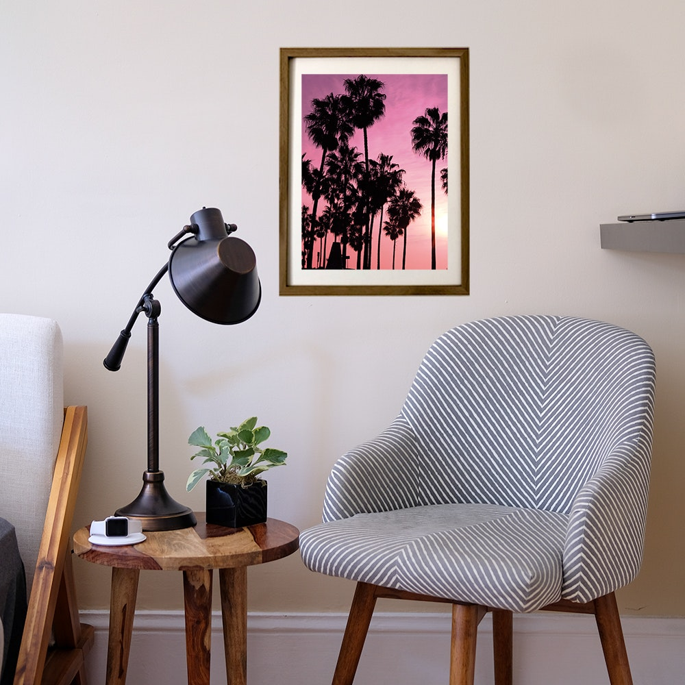 Pink Los Angeles Art Print By Nikolaos Tzovolos Fy