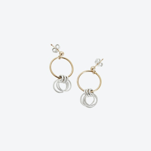 Lucy Silver & Gold Earrings