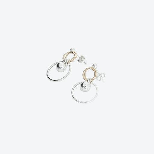 Frankie Silver & Gold Earrings