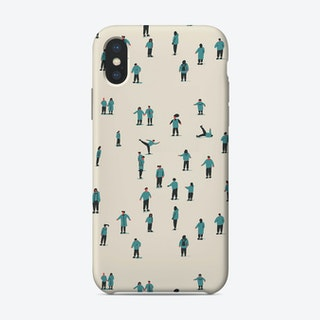 Ice Skaters iPhone Case
