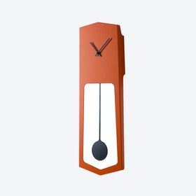 Aika Wall Clock - Traffic Orange