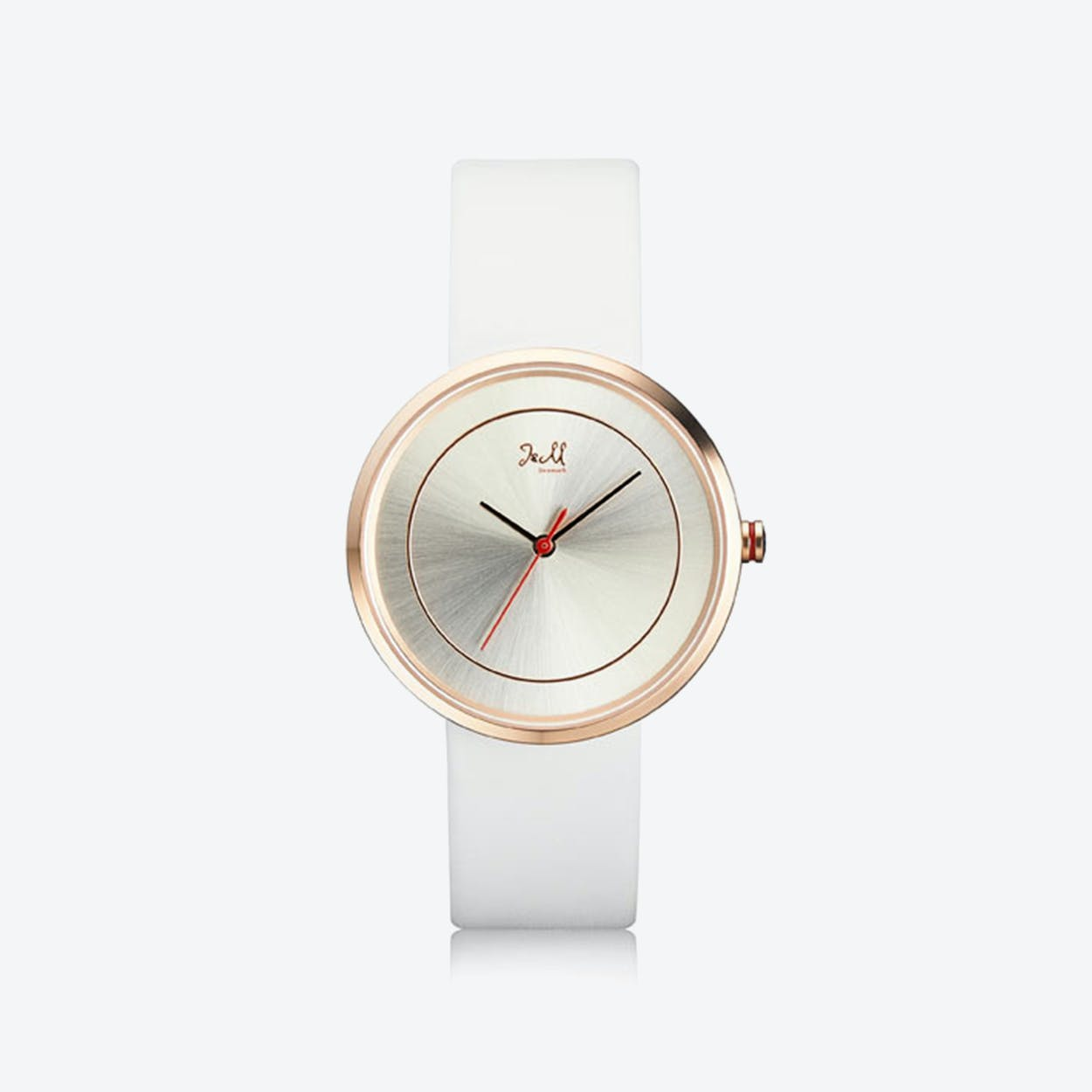 J&M Watch M Nordic360 W1 in Black with White Leather Strap