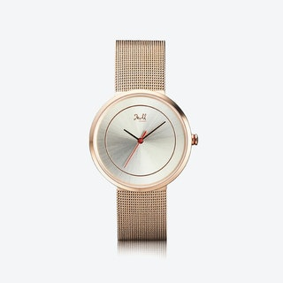 J&M Watch M Nordic360 W2 in Rose Gold with Rose Gold Mesh Strap
