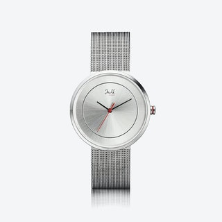 J&M Watch M Nordic360 W3 in Rose Gold with Silver Mesh Strap