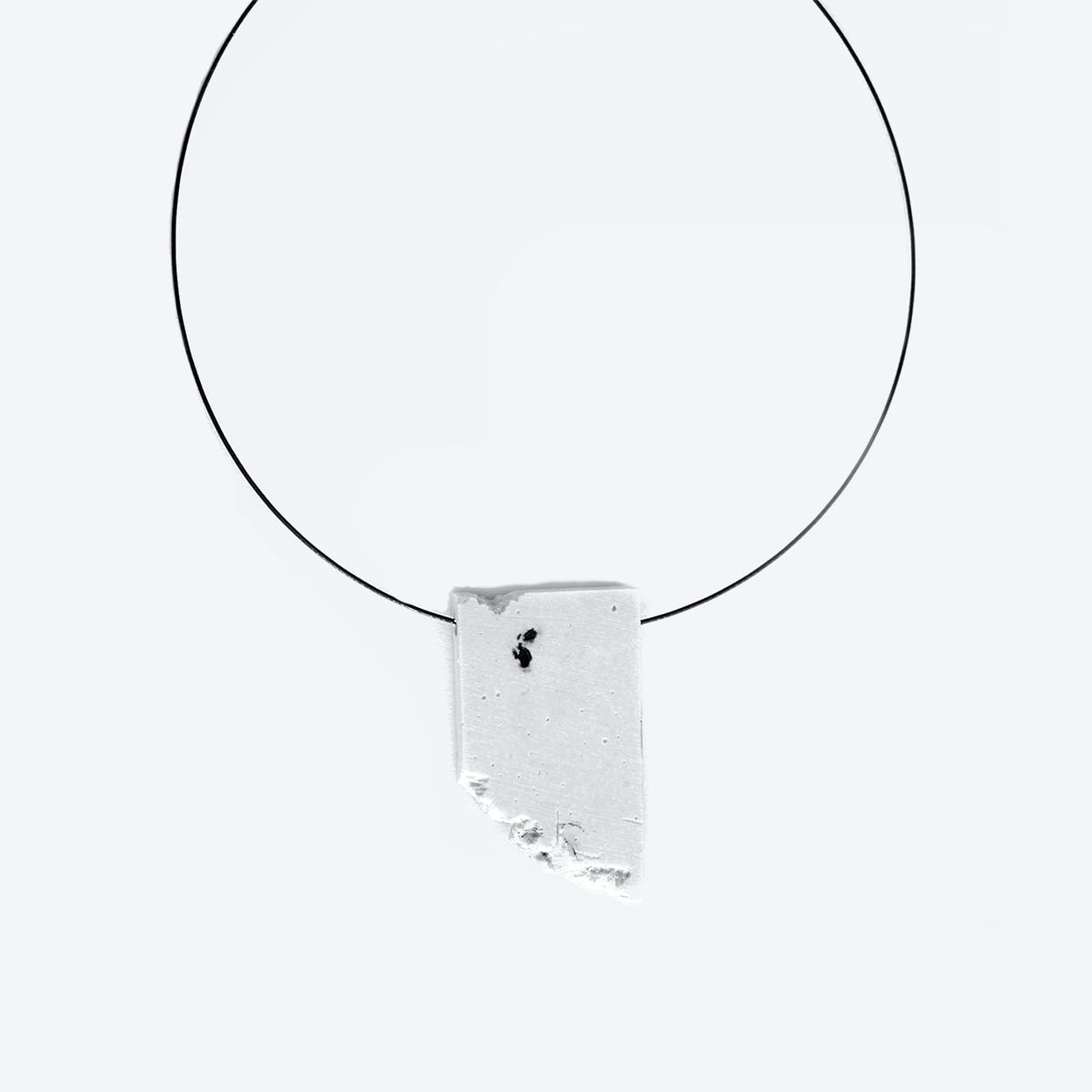 Marble The Wall Concrete Necklace