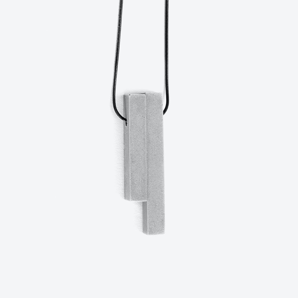 Mini Column Grey - 2 pieces Concrete Necklace