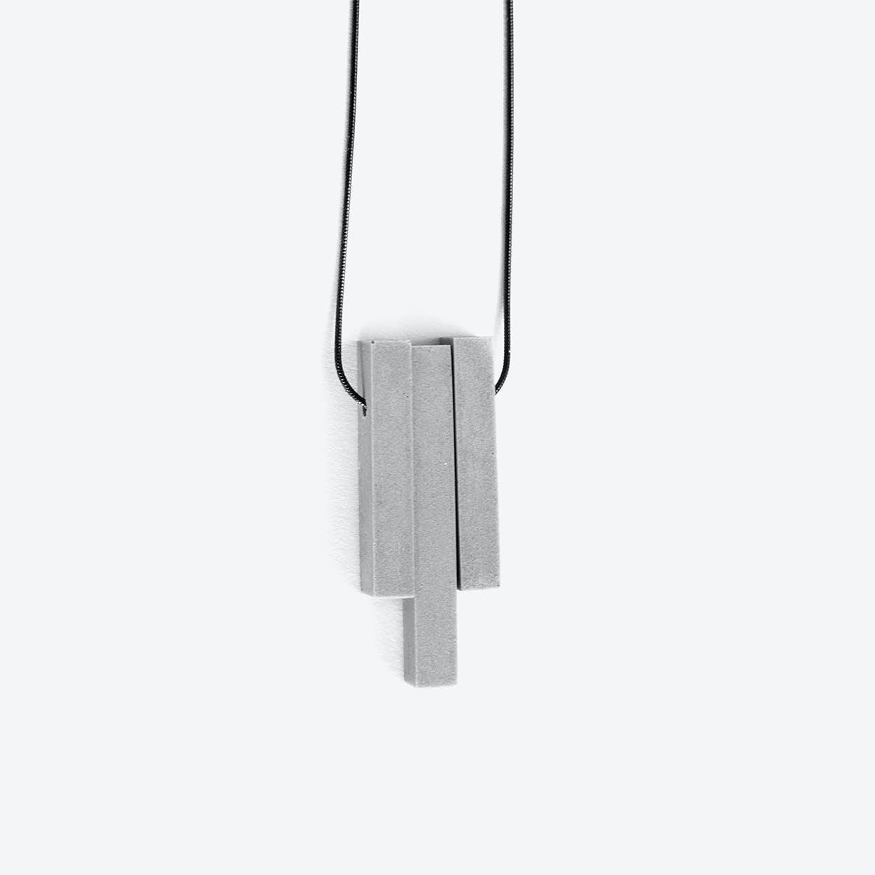 Mini Column Grey - 3 pieces Concrete Necklace