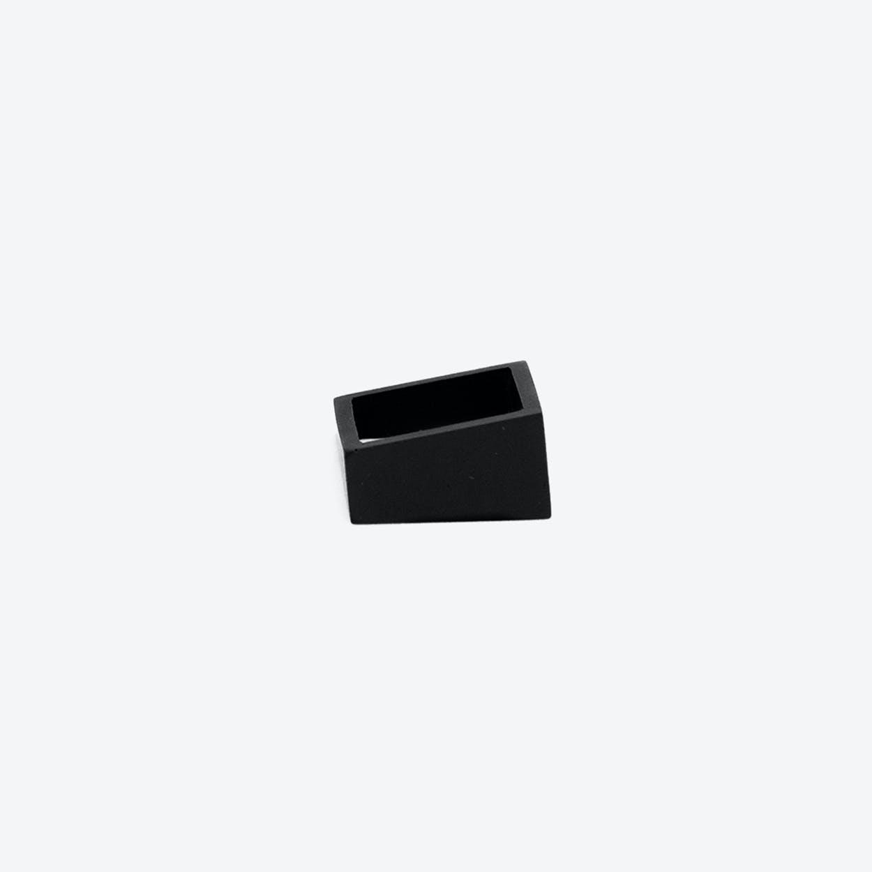 MK3 Black Asymmetric Concrete Ring