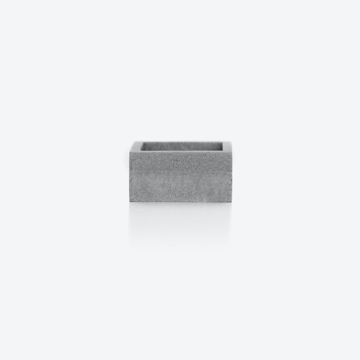 MK3 Grey Symmetric Concrete Ring