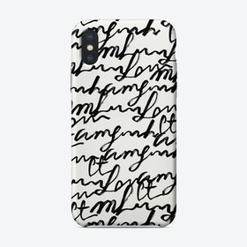 Lost Words iPhone Case