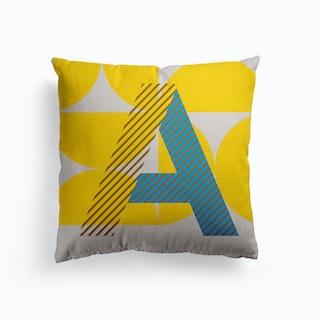 A Typeface Alphabet Canvas Cushion