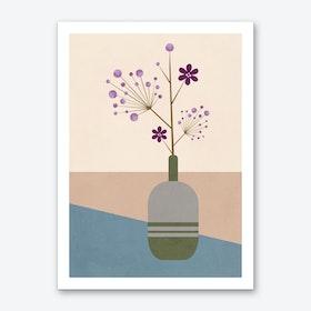 Lila Flower Art Print