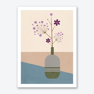 Lila Flower Art Print
