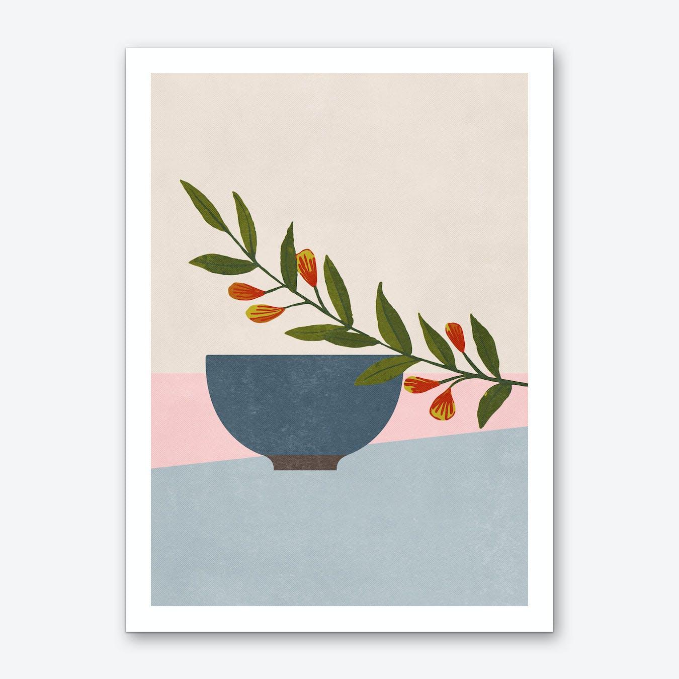 Green Branch Art Print