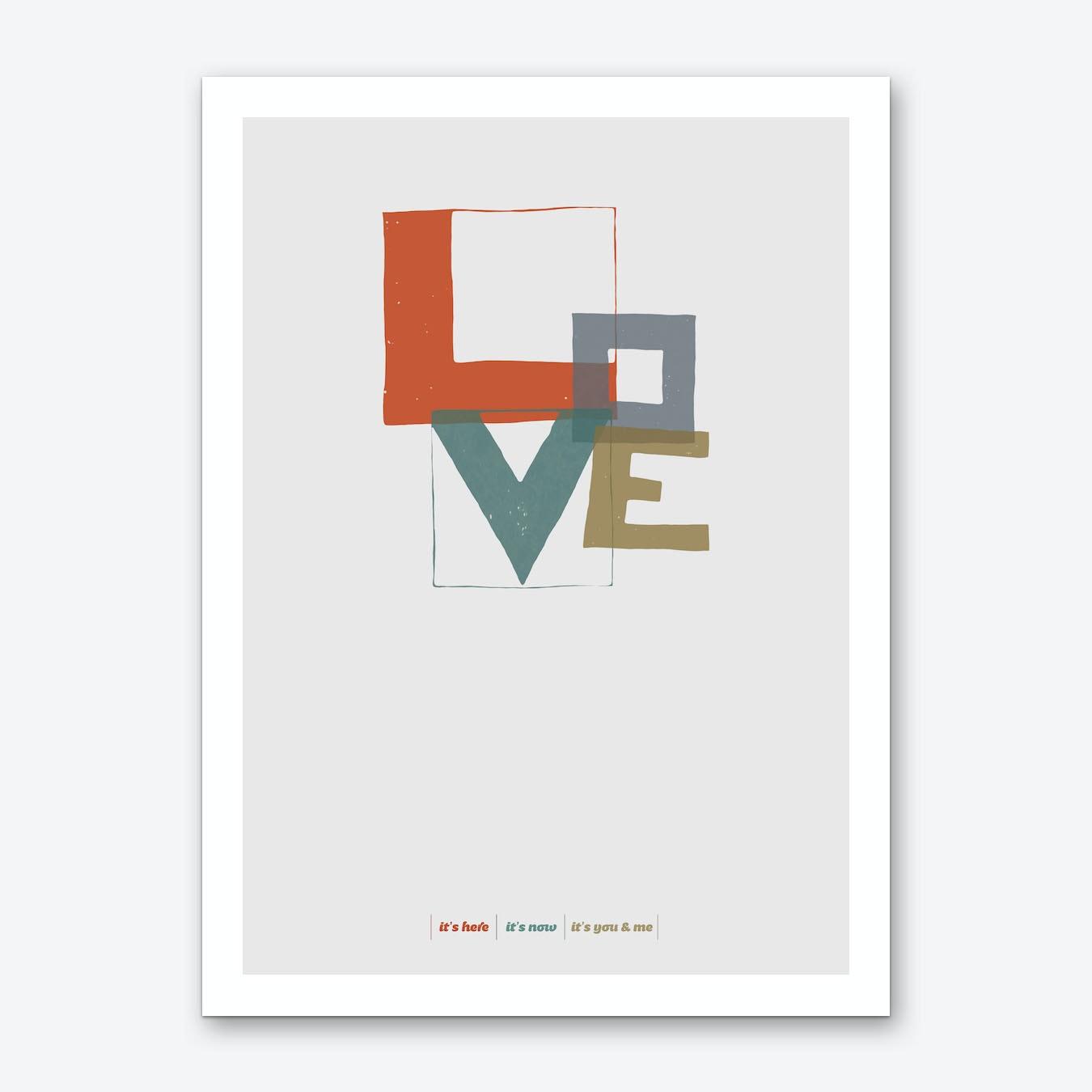 Love Type Art Print