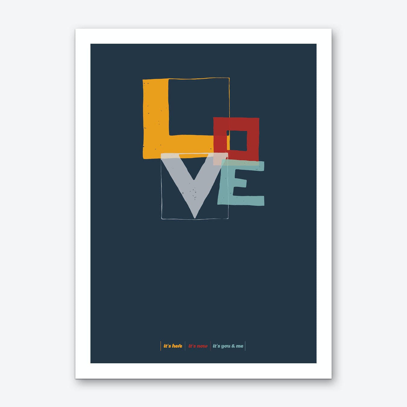 Love Type Dark Art Print