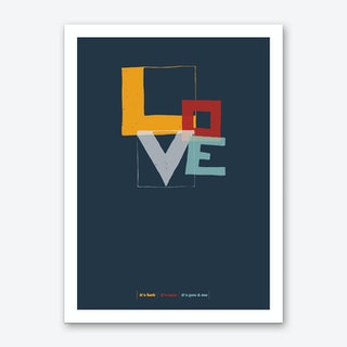 Love Type Dark Art Print