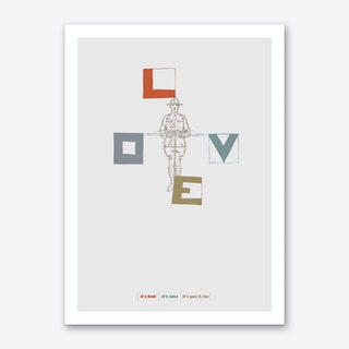 Love Flag Art Print