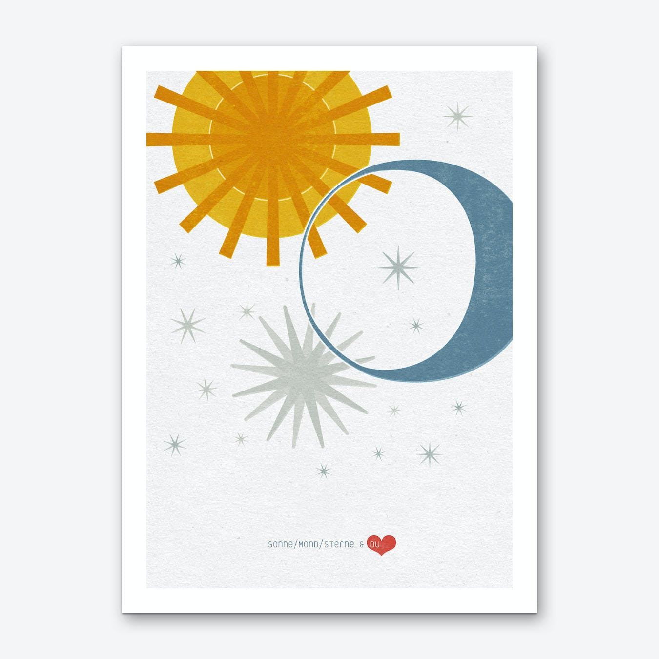 Sonne Mond Sterne & Du 01 Art Print