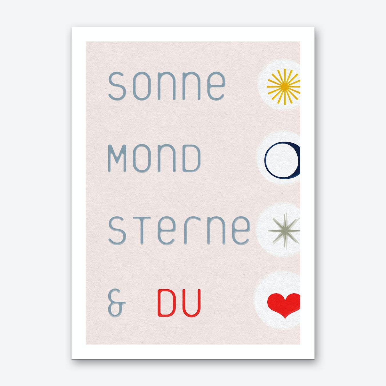 Sonne Mond Sterne & Du 02 Art Print