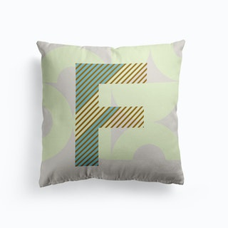 F Typeface Alphabet Cushion