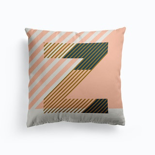 Z Typeface Alphabet Cushion