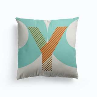 Y Typeface Alphabet Cushion