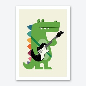 Croco Rock Art Print