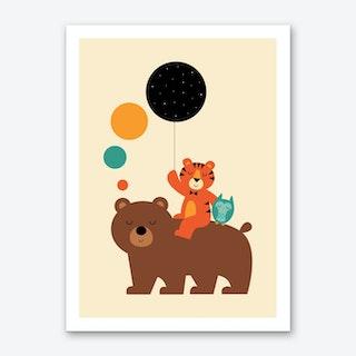 My Little Explorer Art Print