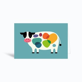 Awesome Cow Greetings Card