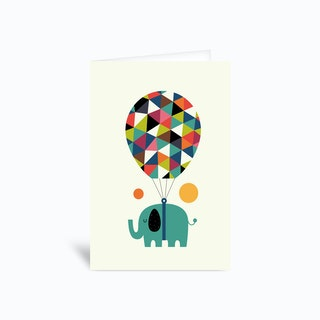 Fly High And Dream Big Greetings Card