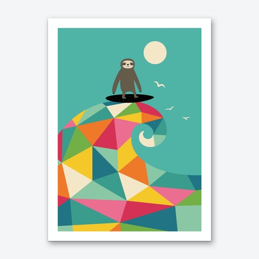 Surfs Up Art Print