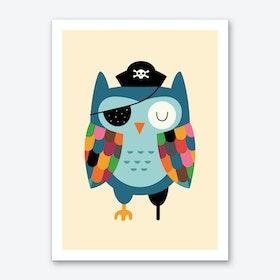 Captain Whooo Art Print