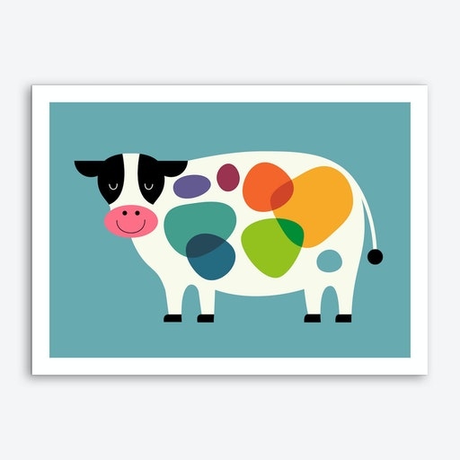 Awesome Cow Art Print