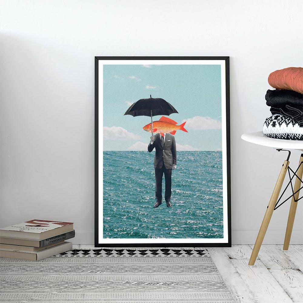 Can't Get Wet Art Print