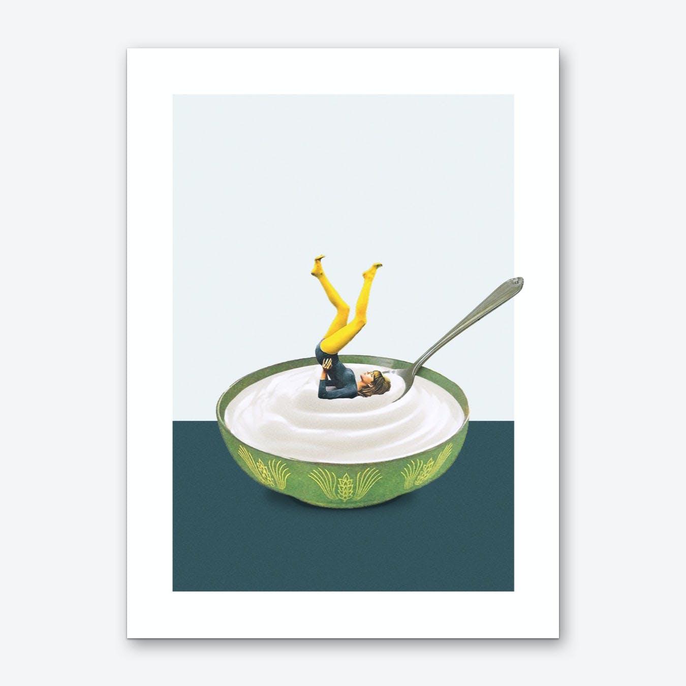 Yoga In My Yogurt Art Print