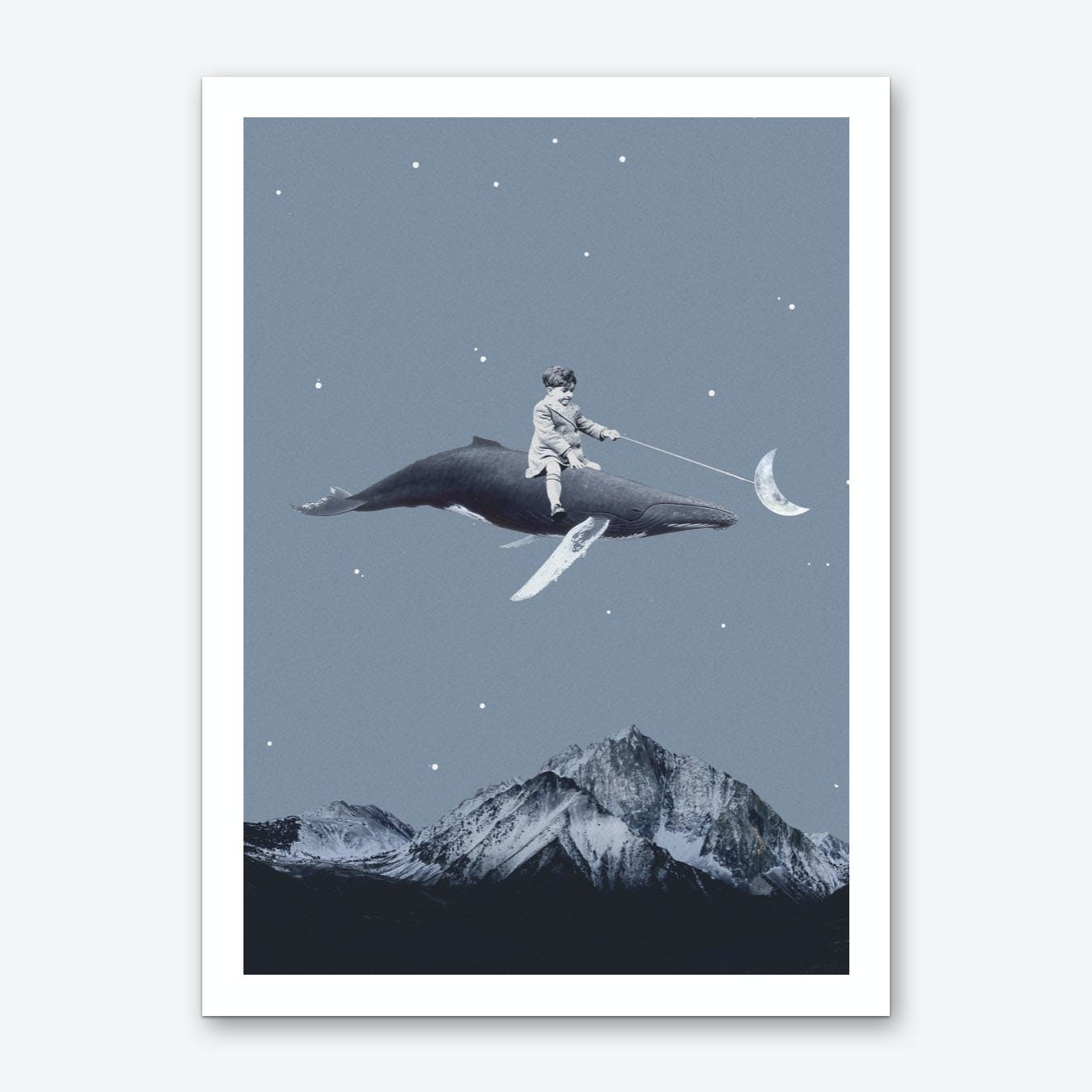 Aim For The Moon Art Print