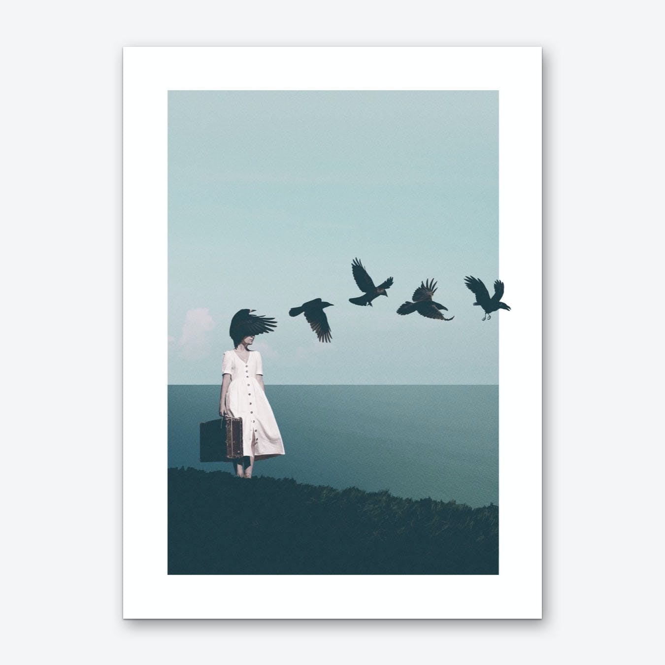 Forgetting Your Face Art Print