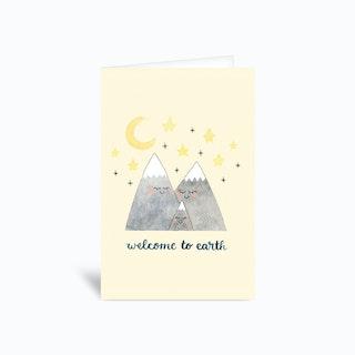 Mountain Baby Card 4x6 Greetings Card