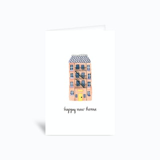 Happy New Home Apartment Card 4x6 Greetings Card
