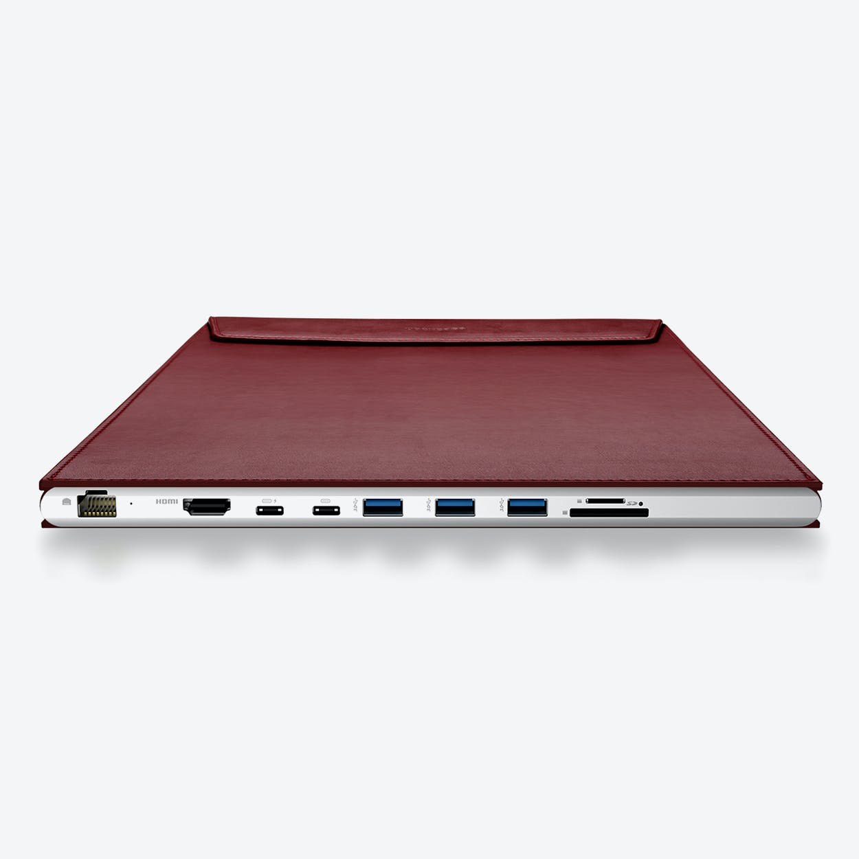 DockCase A1 Laptop Case for 15-in MacBook Pro - Burgundy Red