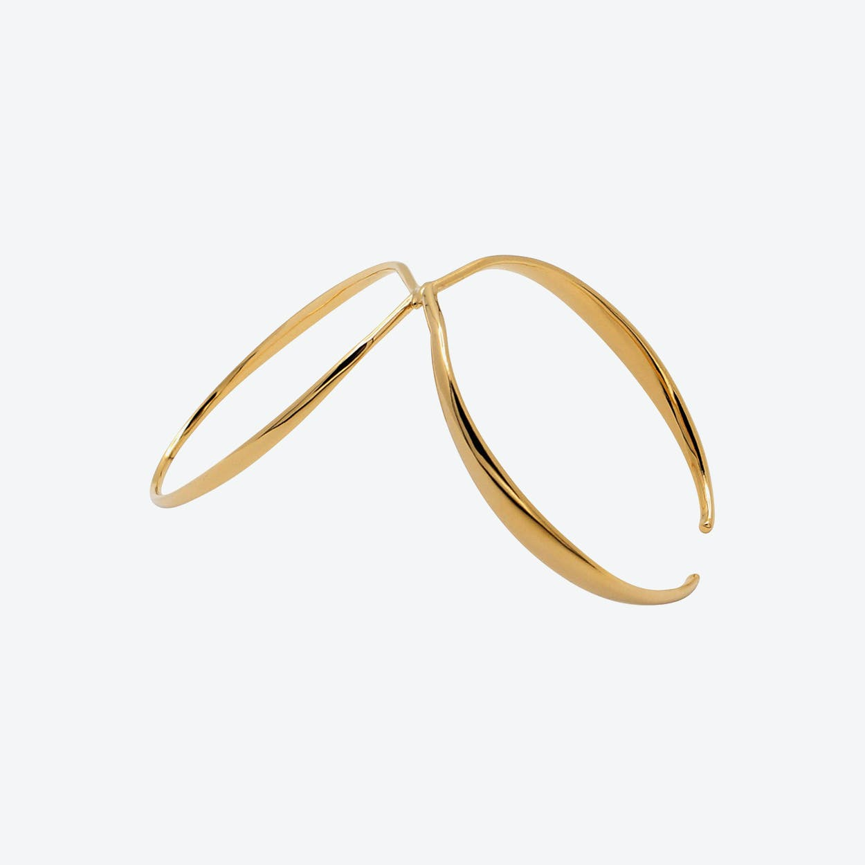 Halo Bangle in Gold