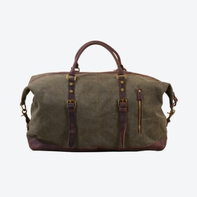 Canvas Classic Travel Holdall Bag in Green