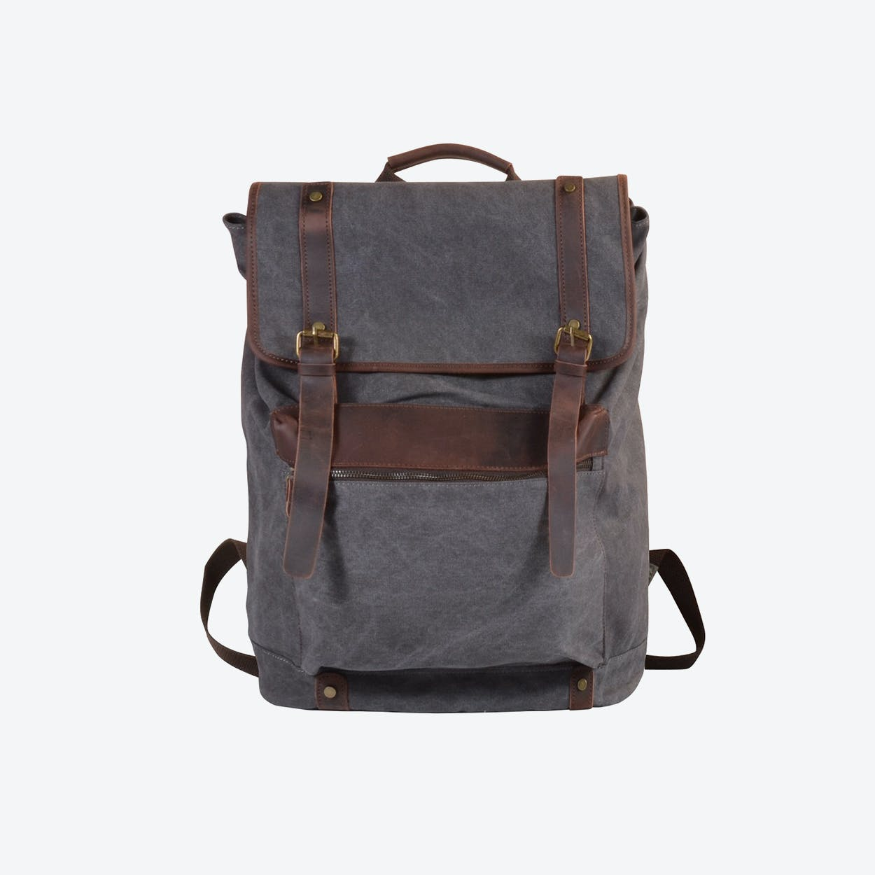 Extra Large Canvas Backpack in Grey