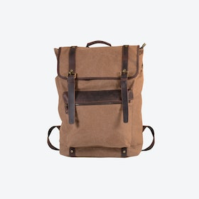 Extra Large Canvas Backpack in Brown